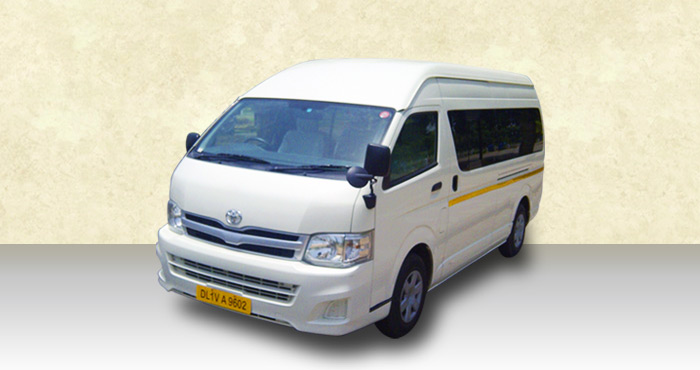 Hire Toyota Hiace 9+1 Seater from India Rental Cars